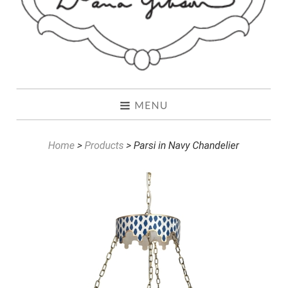 Dana Gibson Parisi navy chandelier